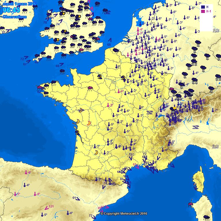 Meteociel Observations M T O En Temps R El En France