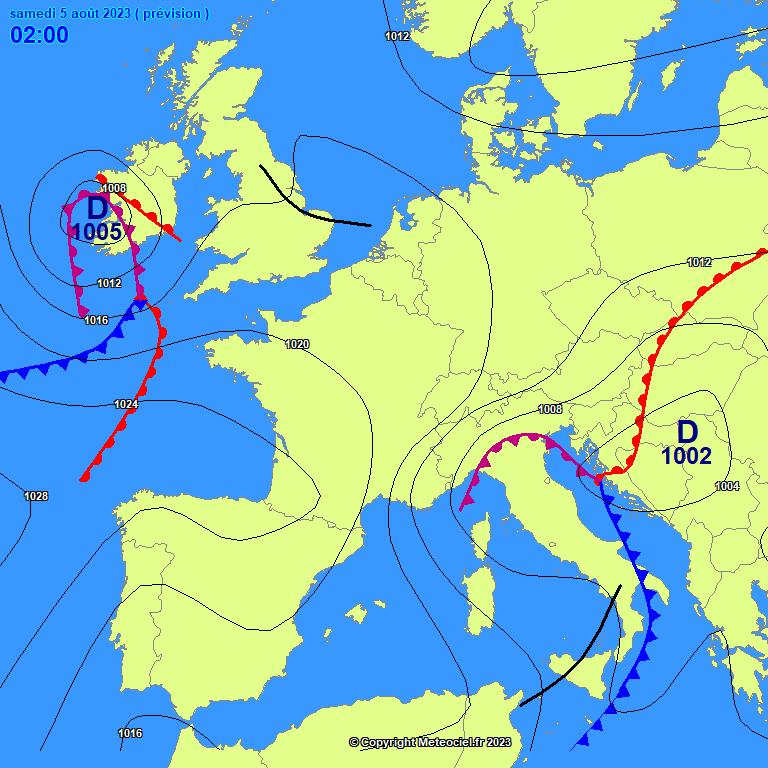 Frontologie : prévisions 24h