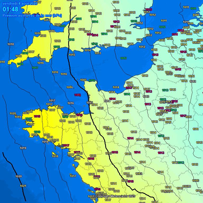 ... observations météo Pression atmosphérique