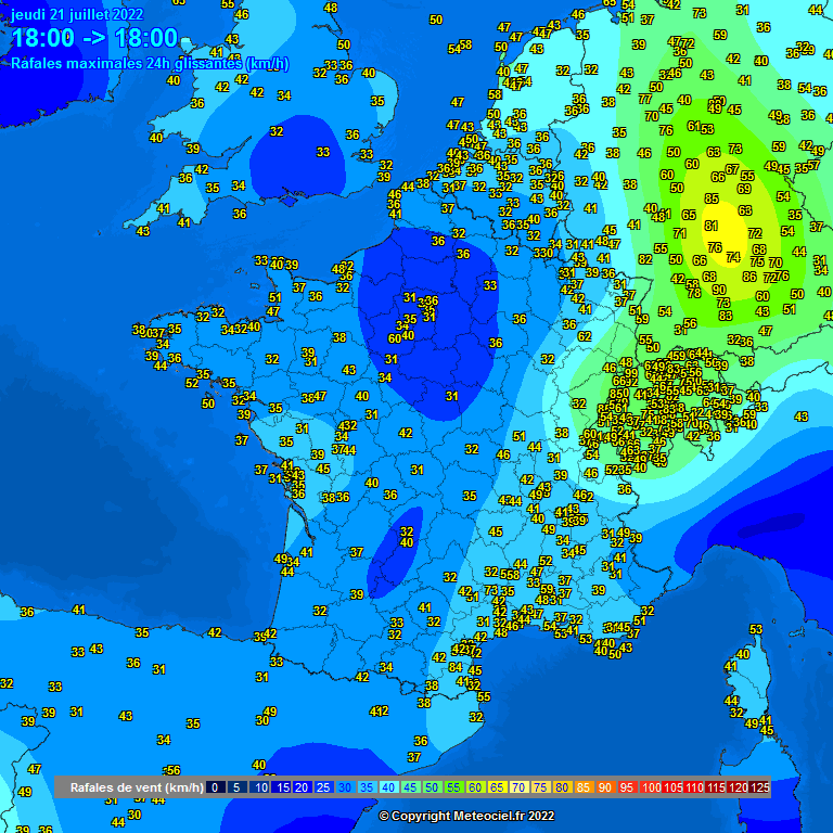 Windstoten Centraal Europa