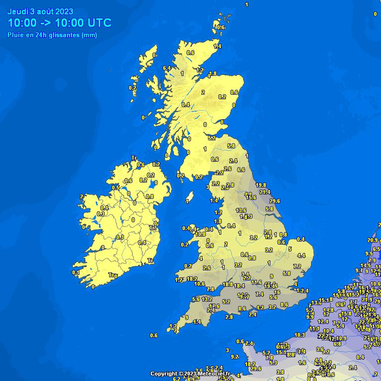 Image d'illustration pour Cartes d'observations et de situation météo - Londres