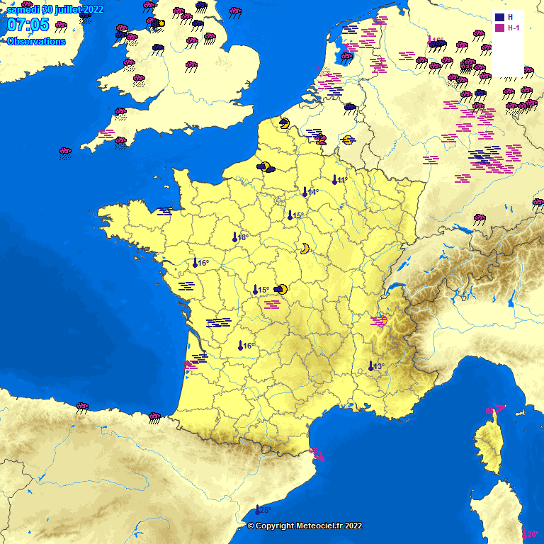 METEO EN DIRECT TEMPS REEL