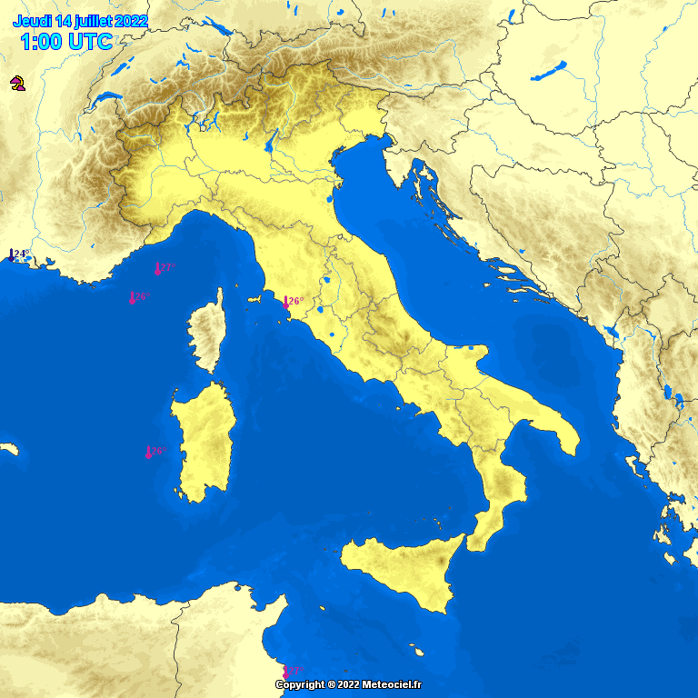 Estremi Meteo Italia