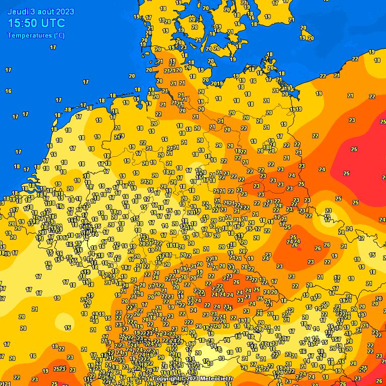 Teplota Evropa
