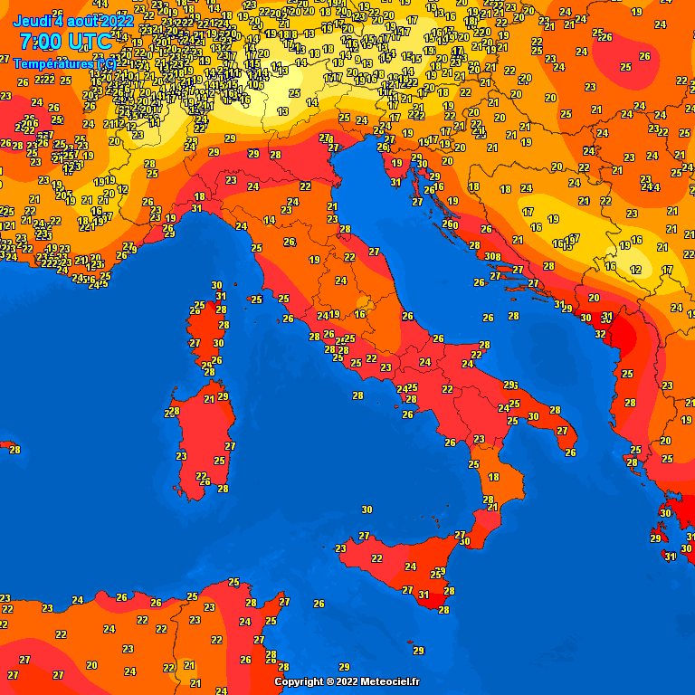 Temperature italia al suolo ESCAPE='HTML'