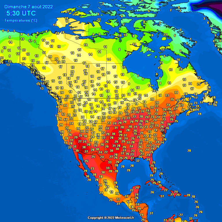 North American Temps