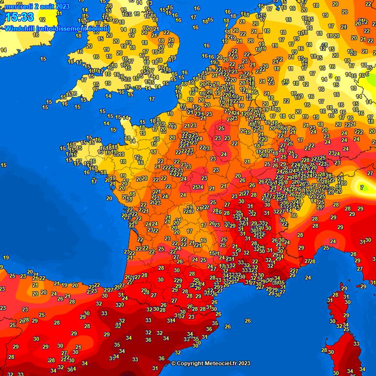 températures en France et en Europe météopassion