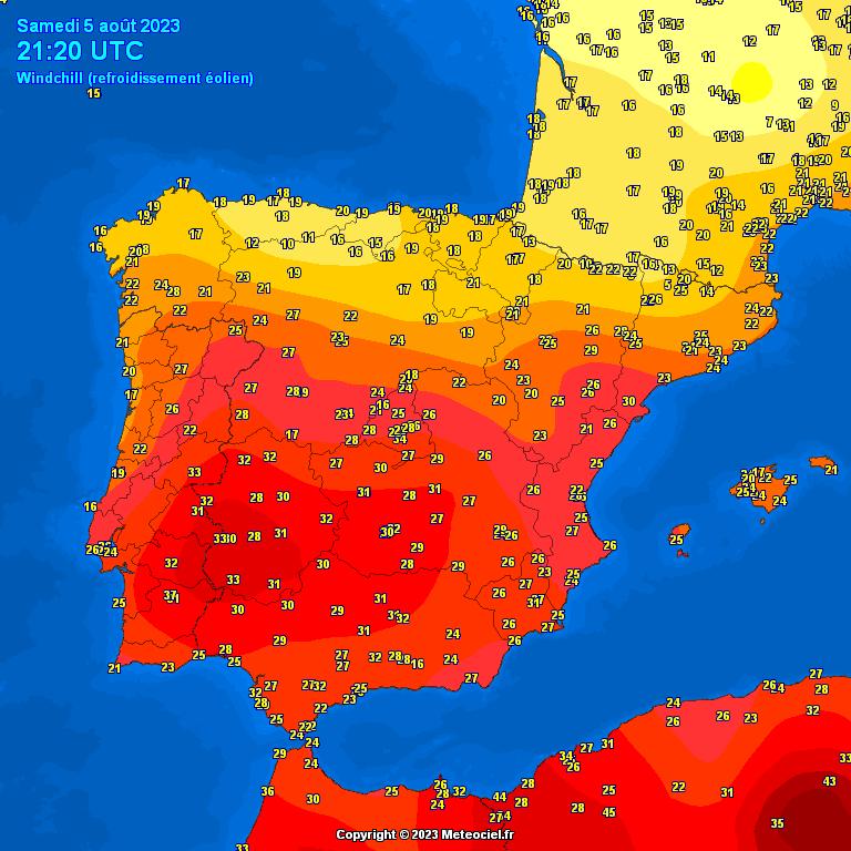 Mapa de Sensación Térmica España y Zaragoza