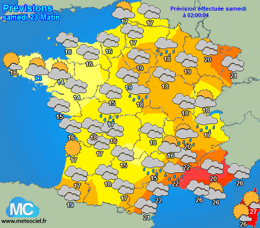 le temps demain en France