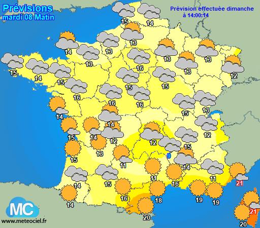 www.METEOCIEL.fr - Previsions météo à 3 jours