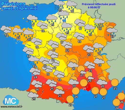 Carte prévisions meteociel.fr